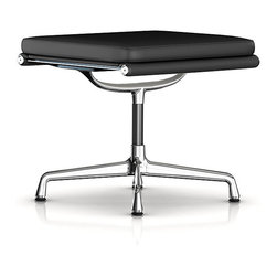 Herman Miller - Herman Miller Eames Soft Pad Ottoman, Leather - The ultimate in sleek for your living room or lounge area, this padded ottoman is a functional masterpiece. It features a streamlined surface with a super-soft top cushion, all supported by a beautiful curved base.
