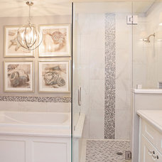 Transitional Bathroom by ampersand design group & studio