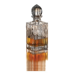 ALEXANDRIA - Alexandria Whiskey Glass Decanter - Keep your whiskey in the elegant Alexandria decanter. Made of clear crystal,it has a 33-ounce capacity.
