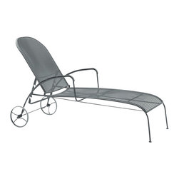 Woodard - Valencia Adjustable Chaise Lounge (Mayan) - Finish: Mayan. Wrought Iron frame. Seat Height: 15.8 in. H. 77.5 in. W x 29 in. D x 24 in. H. All products are made to order. Orders cannot be cancelled after 5 calendar days. If order is cancelled after 5 calendar days, a 50% restocking fee will be applied.