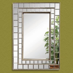 Antique Pewter Modernized Venetian Framed Mirror - 32W x 45H in. - About BassettBassett Mirror Company Inc. has been one of America's leading names in home fashion since 1922 when the family business was founded on the eastern slopes of the Blue Ridge Mountains of Virginia. Four generations later Bassett still produces beautiful mirrors fine furniture and framed art pieces that are destined to become heirlooms.