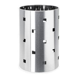 """Blomus - Squaro Wastebasket - When was the last time the word """"beautiful"""" popped into your head about a wastebasket? This may actually be the first time, and a perfectly sensible response it is too. In addition to being attractive, this little item comes equipped with a plastic insert that makes it easy to empty."""