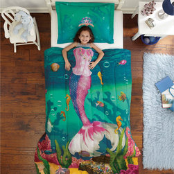 None - Sea Princess Twin-size 2-piece Comforter Set - Turn your little one's bedroom into an underwater paradise with this Sea Princess twin-size comforter and sham set. Crafted with soft microfiber for a luxurious feel,this ultra-soft bedding features a beautiful mermaid-themed pattern.