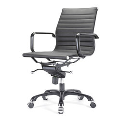 Meelano - M344 Eames Style Office Chair In All Black - Make your career dreams come true. Always Be Closing. Inspired by Mid-Century ideals, you'll go far and wide with your leadership skills sitting here. Attack your competition and become the master of your office.