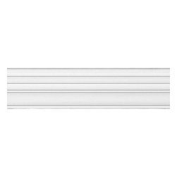 "Renovators Supply - Chair Rails White Urethane Chair Rail Molding 97'' x 1 3/4'' | 20799 - Chair Rails: Made of virtually indestructible high-density urethane our chair rails are cast from steel molds guaranteeing the highest quality on the market. High-precision steel molds provide a higher quality pattern consistency, design clarity and overall strength and durability. Lightweight they are easily installed with no special skills. Unlike plaster or wood urethane is resistant to cracking, warping or peeling.  Factory-primed our chair rails are ready for finishing. Measures 97"" long x 1 3/4"" high."