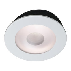 """Juno - Juno 5"""" Line Voltage Frosted Lens Shower Recessed Light Trim - From Juno Lighting comes this 5"""" frosted lens shower recessed light trim. Perfect for shower or even closet use, this wet location approved recessed light trim is from Juno Lighting. The fresh design features a frosted lens with a small opening which allows light to shine through, illuminating your shower without harming the lamp. To be used with Juno recessed light housing."""