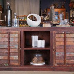 Vintage & Repurposed - Sideboard made from vintage teak shutters.