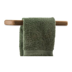 Waterbrands - Waterbrands SeaTeak Small Teak Towel Bar - Solid teak towel bar will look great anywhere on your boat and even in outdoor living areas and at home where you want to add a nautical look and feel. Handy and handsome, towel bar will be a welcomed addition to your decor.