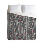 Heather Dutton Berry Branch King Duvet Cover - Stylized berry branches dance across the face of this handsome duvet cover, adding a playful sense of sophistication to your bedroom. Made of machine-washable polyester, it will keep looking fresh, night after night.