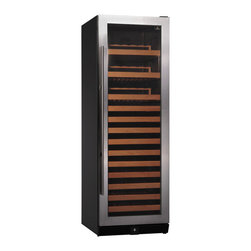 KingsBottle - 170 Bottle Compressor Single Zone Wine Cooler Stainless Steel - At KingsBottle, we understand everything that goes into making a fine bottle of wine. That is why we also understand just how important storing those bottles can be. Whether you are a true connoisseur or just working on building the perfect collection for your bar or restaurant, Kingsbottle has the perfect storage cooler for you. Our 170 Bottle Single Zone Compressor Wine Cooler has a sleek design that improves the look of any room and stores your bottles at the perfect temperature with one of the quietest compressors on the market. Ball bears sliding shelves and blue LED lighting make this buy a unique steal.