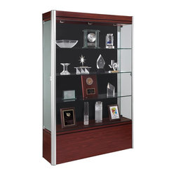 Waddell - Contempo 72 in. Full Floor Display Case - The Waddell Contempo Display Cases bring a modern style into your space. Design surrounds a clean, seamless front to parade your prized possessions in high style.
