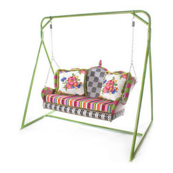 MacKenzie-Childs 'Flower Market' Porch Swing & Stand - How relaxing would it be to rest on this swing on a warm summer evening? This is a total wish list item because of the price, but it's so lovely and whimsical.