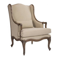 Aidan Gray - Aidan Gray Saul Salon Chair - Color/Finish: Antique Brown