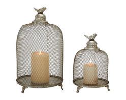 Set of 2 Grandeur and Unique Styled Metal Candle Lantern - Description: