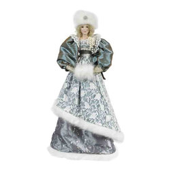Winward Designs - Tiffany Angel - A divine angel figurine that is needed to complete your holiday decorations this year! Perfect for a white christmas celebration! Made of resin (head & hands) and premium fabrics.