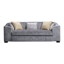 Cove Sofa - Baker Furniture - The Cove Sofa is a private sanctuary. The wraparound arm embraces and supports, while the subtle arc of the arm and back form a unique profile. Upholstered arms surround a single bench-seat cushion complete with decorative throw pillows.