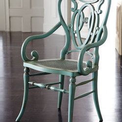 Green Scroll Armchair