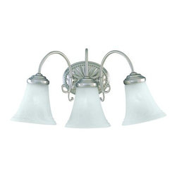 "Savoy House - Savoy House KP-8-510-3 3 Light 19.5"" Wide Bathroom Fixture Liberty Coll - Three light bathroom fixtureFeaturing marble glassRequires three 60w medium base lamps"