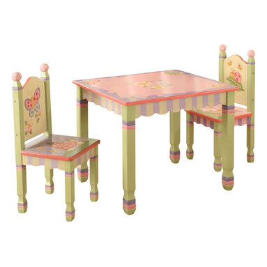 Teamson Design - Teamson Kids Magic Garden Hand Painted Kids Table and Chair Set - Teamson Design - Kids' Table and Chair Sets - W7484SET. Style and functionality never came in such an easy package! Have your children enjoy their daily activities with a great furniture piece from Teamson Design. This collection embodies a style that can match any room decor!