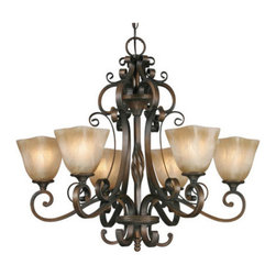 Golden Lighting - Golden Lighting 3890-6-GB Meridian 6 Light Chandelier, Golden Bronze - Meridian 6 Light Chandelier in the Golden Bronze finish