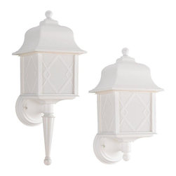 Sea Gull Lighting - Sea Gull Lighting-88113BLE-15-Harbor Point - One Light Outdoor Wall Mount - *Shade Included.