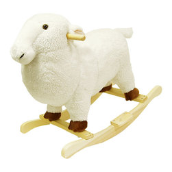 Happy Trails - Lamb Plush Rocking Animal - Wood Core. Recommended Weight Limit: 80 lbs.. Seat Height: 18 in.. Ages: 2 years and up. Color: White. 25 in. L x 14.5 in. W x 22.5 in. H (8 lbs.)