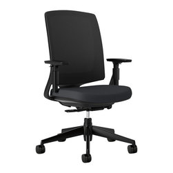 Hon - Lota Chair - You've grown out of childhood toys, but you know you still like to sit and spin on occasion. Here's a desk chair to make child's play of work. It's adjustable, padded, rolls on sturdy casters and, of course, spins if you should get the urge.