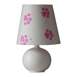 Ziqi Home - Momo Lamp - Leaving a trail of paw prints on your shade, this lamp will leave your space imprinted. Made with a high fire porcelain ball and half matted glaze, Momo can fit any scene. Our lamp's design was taken from the actual paw print of the designer's golden retriever.