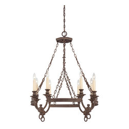 Savoy House - Craftsman / Mission 8 Light Chandelier Bastille Collection - Savoy House 1-6744-8 Bastille 8 Light ChandelierElegant simplicity defines this collection. The finish is rich and relaxed and the Soft Ivory Beeswax Candles create a glow that will warm your home.Features: