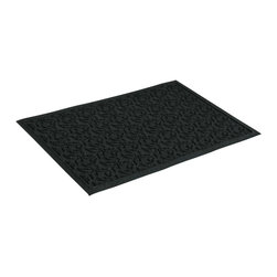 Bungalow Flooring - 24 in. L x 36 in. W Charcoal Waterguard Dogwood Leaf Mat - Made to order. Leaf design traps dirt, resists fading, rot and mildew. Indoor and outdoor use. 24 in. L x 36 in. W x 0.5 in. H