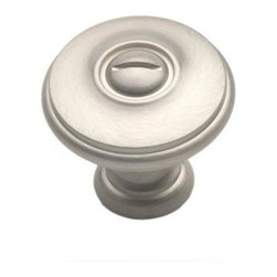 Cliffside Industries B600-SS Cabinet Knob - Artisan Series - Silver Satin Finish - This silver satin finish cabinet knob with flat round top and dummy screw is part of the artisan suite hardware collection from Cliffside Industries and is a perfect blend of craftsmanship in traditional and contemporary design to complement any decor.