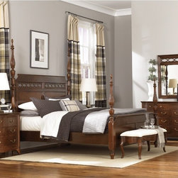 Cherry Grove New Generation bedroom - Custom designed hardware, updated lines and a smaller scale epitomize the new generation of the classic Cherry Grove collection.