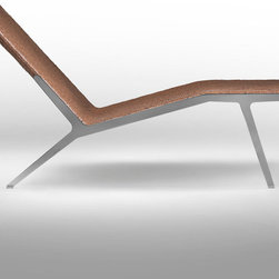 Flexform - Flexform Helen Chaise Longue - Chaise longue is constructed in metal and covered with woven leather. Metal structure available stained, chromed or burnished. Leather covering in a variety of colors. Manufactured by Flexform in Italy. Price includes shipping to the USA. Designed in 2013