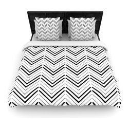 """Kess InHouse - CarolLynn Tice """"Distinct"""" Black White Cotton Duvet Cover (Queen, 88"""" x 88"""") - Rest in comfort among this artistically inclined cotton blend duvet cover. This duvet cover is as light as a feather! You will be sure to be the envy of all of your guests with this aesthetically pleasing duvet. We highly recommend washing this as many times as you like as this material will not fade or lose comfort. Cotton blended, this duvet cover is not only beautiful and artistic but can be used year round with a duvet insert! Add our cotton shams to make your bed complete and looking stylish and artistic!"""