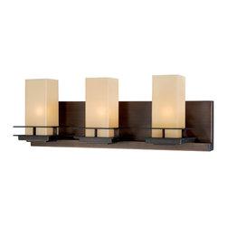 Vaxcel - Oak Park Sienna Bronze 3 Light Vanity - Vaxcel W0021 Oak Park Sienna Bronze 3 Light Vanity