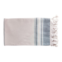 Antiochia - Antiochia Pera Collection Bath Towel, Turquoise - Antiochia Pera Collection Bath Towel combines the convenience of peshtemals with the comfort of terry cloth. One side terry towel is plush, ultra soft and very absorbent yet light weight. Perfect for toweling off or lounging on.