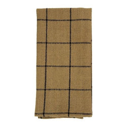 India Home Fashions - Burlap Napkin, Natural, Burlap Check - Burlap Napkins are designed to coordinate with Burlap Check and Burlap Star patterns in wine, natural and black. Made from 100% cotton, they have the look of burlap but with a softer feel. These napkins can be mixed and matched to provide you with a unique table setting that compliments your personal style. Also available in window treatments, tableware, bedding and braided rugs.