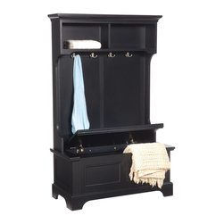 Bedford Hall Tree and Storage Bench - Hang and store it all here.