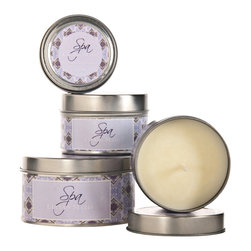 """Lucian Matis - Set of 6 """"Lucian Matis"""" Spa Collection Candle, Gardenia Scent, Large Size - Soy   Organic   Natural"""