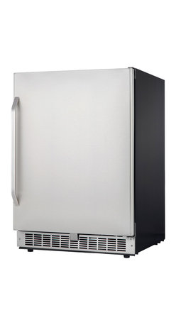 Danby - 5.4 CuFt Built In Refrigerator LED Display Estar Silhouette - The Danby DAR154BLSST Energy Star 5.4 Cu. Ft. Silhouette Select Compact All Refrigerator will add an elegant touch to your kitchen, wet bar or entertainment room. With a spacious 5.4 cu. ft. capacity, three tempered glass shelves and 2L bottle storage, this all-fridge is the perfect place to store beverages and chill hor d'oeuvres. The full wrap stainless door, white LED interior lighting and electronic thermostat give this fridge a sleek, modern appearance that will compliment any d�cor.Large capacity 5.4 cu. ft. all refrigerator designed for built-in application|Fan-forced, frost-free cooling system combined with digital thermostat provides more consistent internal temperature than an automatic defrost system|Temperature can be programmed between 36��F  and 50��F|Integrated door storage designed to hold up to 5 2L bottles|Right hand door swing only (not reversible)|Audible alarm sounds during excessive temperature swings or if the door is ajar|Precise digital thermostat with white LED display seamlessly blend into the cabinet|Energy efficient white LED lighting illuminates the interior|Stainless steel door and handle plus white trimmed frosted glass shelves|Energy Star compliant|  danby dar154blsst| 5.4cf| 5.4| cf| cu.| ft.| cu| ft| silhouette| select| compact| all| refrigerator| refrigerator| led  Package Contents: refrigerator|manual|warranty  This item cannot be shipped to APO/FPO addresses