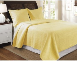 Greenland Home Fashions Vashon - 2 Piece Quilt Set - Yellow - About Greenland Home FashionsFor the past 16 years, Greenland Home Fashions has been perfecting its own approach to textile fashions. Through constant developments and updates - in traditional, country, and forward-looking styles – the company has become a leading supplier and designer of decorative bedding to retailers nationwide. If you're looking for high quality bedding that not only looks great but is crafted to last, consider Greenland.