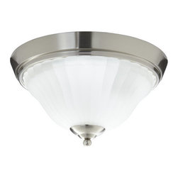 Mirabelle - Mirabelle MIRBRKWFMLGT Boca Raton 2-Light Flush-Mount Bathroom Ceiling Fixture - Product Features: