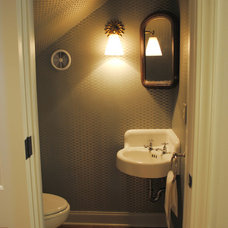 Transitional Powder Room Transitional Powder Room