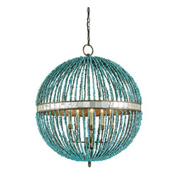 Currey and Company - Currey and Company Alberto Orb Chandelier 5L - IN STOCK!! - Five Light Alberto Orb Chandelier by Currey and Company.