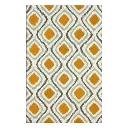 """nuLOOM - Contemporary 7' 6"""" x 9' 6"""" Orange Hand Hooked Area Rug Trellis UZB45 - Made from the finest materials in the world and with the uttermost care, our rugs are a great addition to your home."""