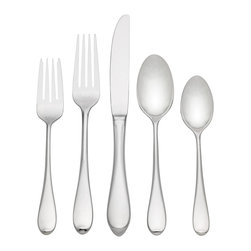 Gorham - Gorham Studio 5-piece Flatware Place Setting - This unique Gorham Studio 5-piece Flatware Place Setting,is produced in 18/10 stainless steel. A great addition to your dinnerware,Gorham flatware feels as fine in your hand as it looks on your table.