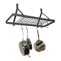Rack it Up! Rectangle Pot Rack - Give your countertops and cabinets ...
