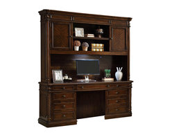 Coaster - Coaster Webb Home Office Computer Desk and Hutch in Walnut Finish - Coaster Webb Home Office Computer Desk and Hutch in Walnut Finish 801152D801152H