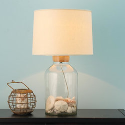 Fillable Glass Jug Table Lamp - Large -