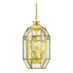 """Volume Lighting - Volume Lighting V5025 6 Light 25"""" Height 1 Tier Chandelier - Six Light 25"""" Height 1 Tier Chandelier with Clear Beveled Glass ShadeElegant and enchanting, this 6 light chandelier features 1 tier and stunning clear beveled glass.Features:"""